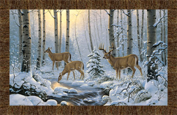 Pine Valley Deer in Wood Panel