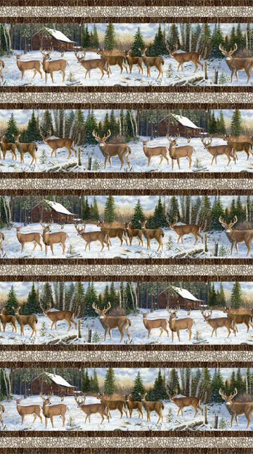 N-DP22856-10 Pine Valley Deer Stripe