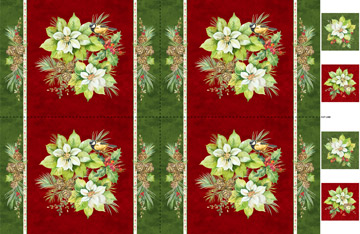 Northcott DP22888-24 Deck the Halls Collection Placemat Panel