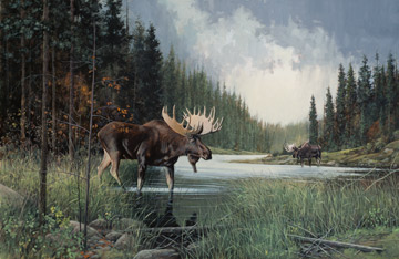 Northcott | Moose Lake Panel Panel DP22943-34 - Digitally-printed 28 Panel