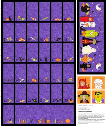 Happy Halloween Advent Calendar Panel DP22974-85