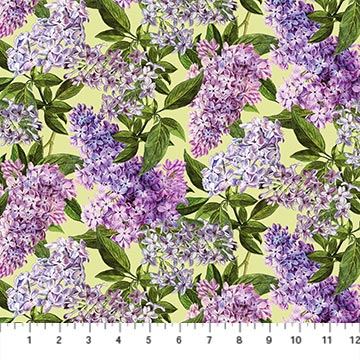 NORTH- Chelsea Digital Lilacs On Light Green