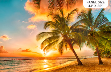 THE VIEW FROM HERE DP23411-44  ISLAND SUNSET Paradise 28 Panel