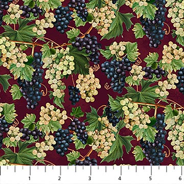 YOU HAD ME AT WINE  by Deborah Edwards for Northcott DP23576-26 BURGUNDY MULTI