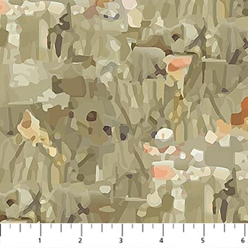 Northcott Fantasy Forest Fantasy Texture 2 - Taupe Multi