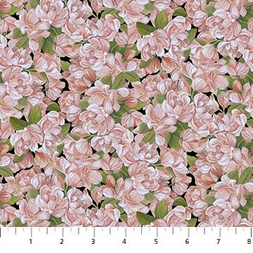 Fabric-Northcott Covent Garden Pink Flowers
