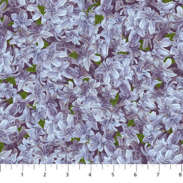 Fabric-Northcott Covent Garden Lilac Flowers