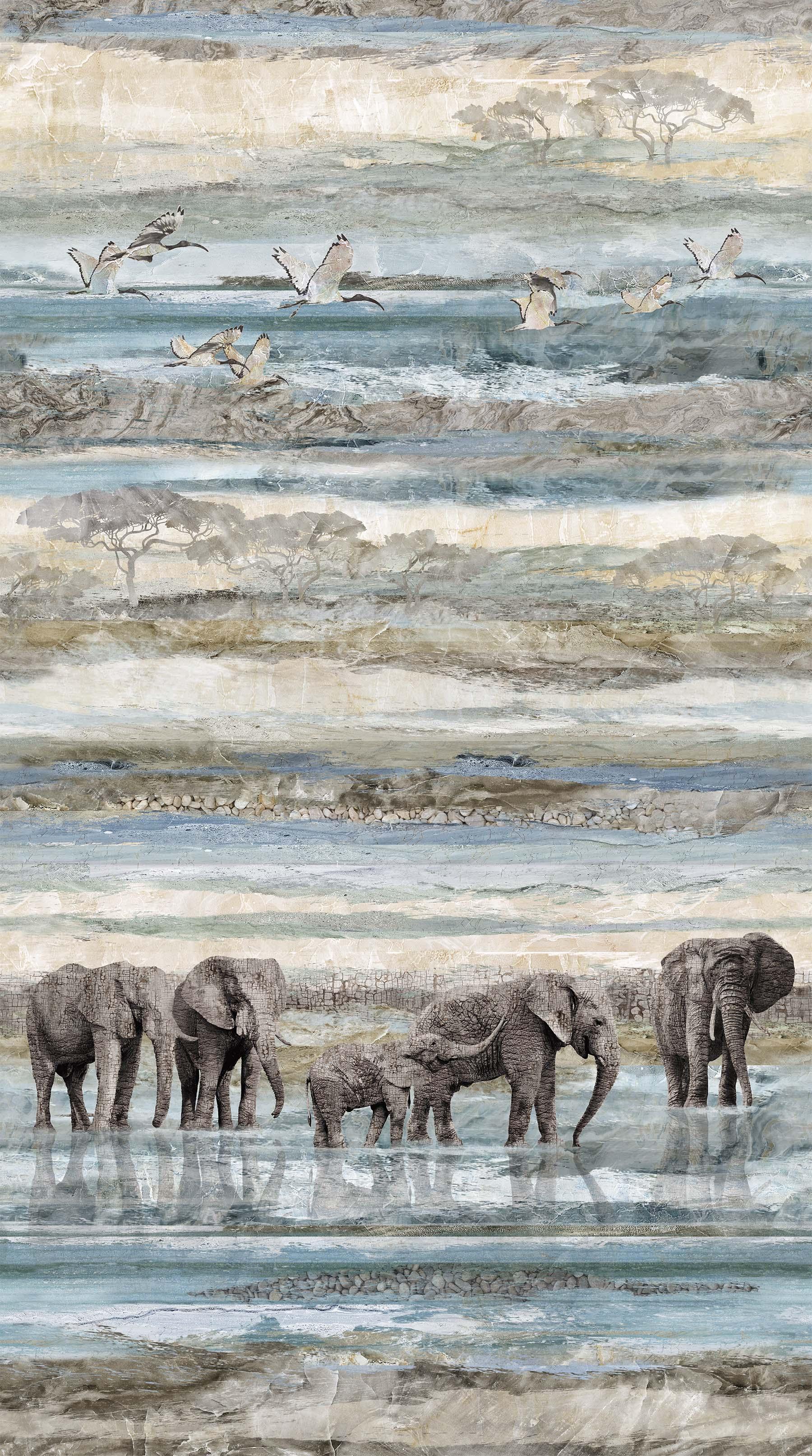 Northcott New Dawn Ombre Elephant DP23921-44  PRE-ORDER