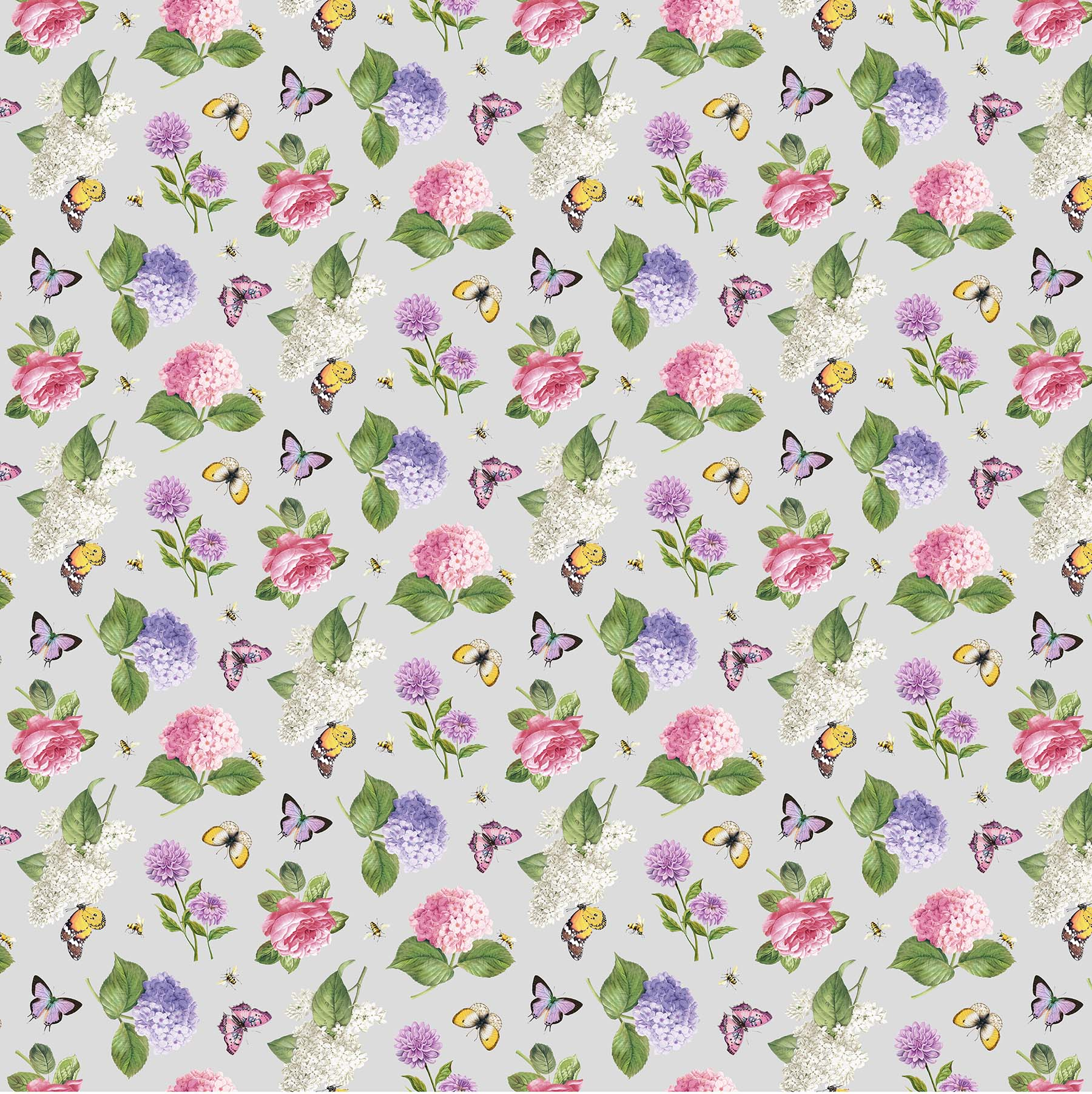 SCENTED GARDEN Gry Floral Toss