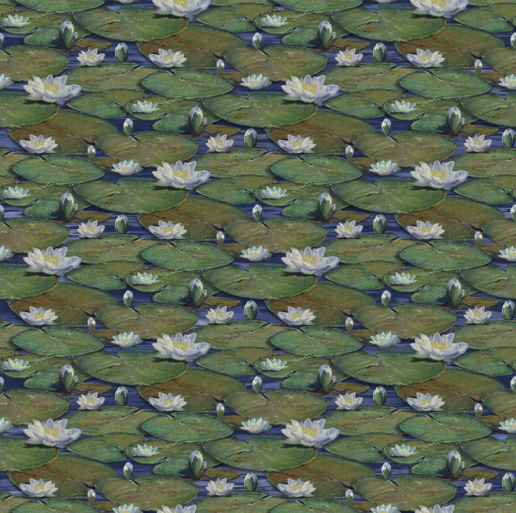 NORTH- The Great Blue-Navy Multi Water Lilies