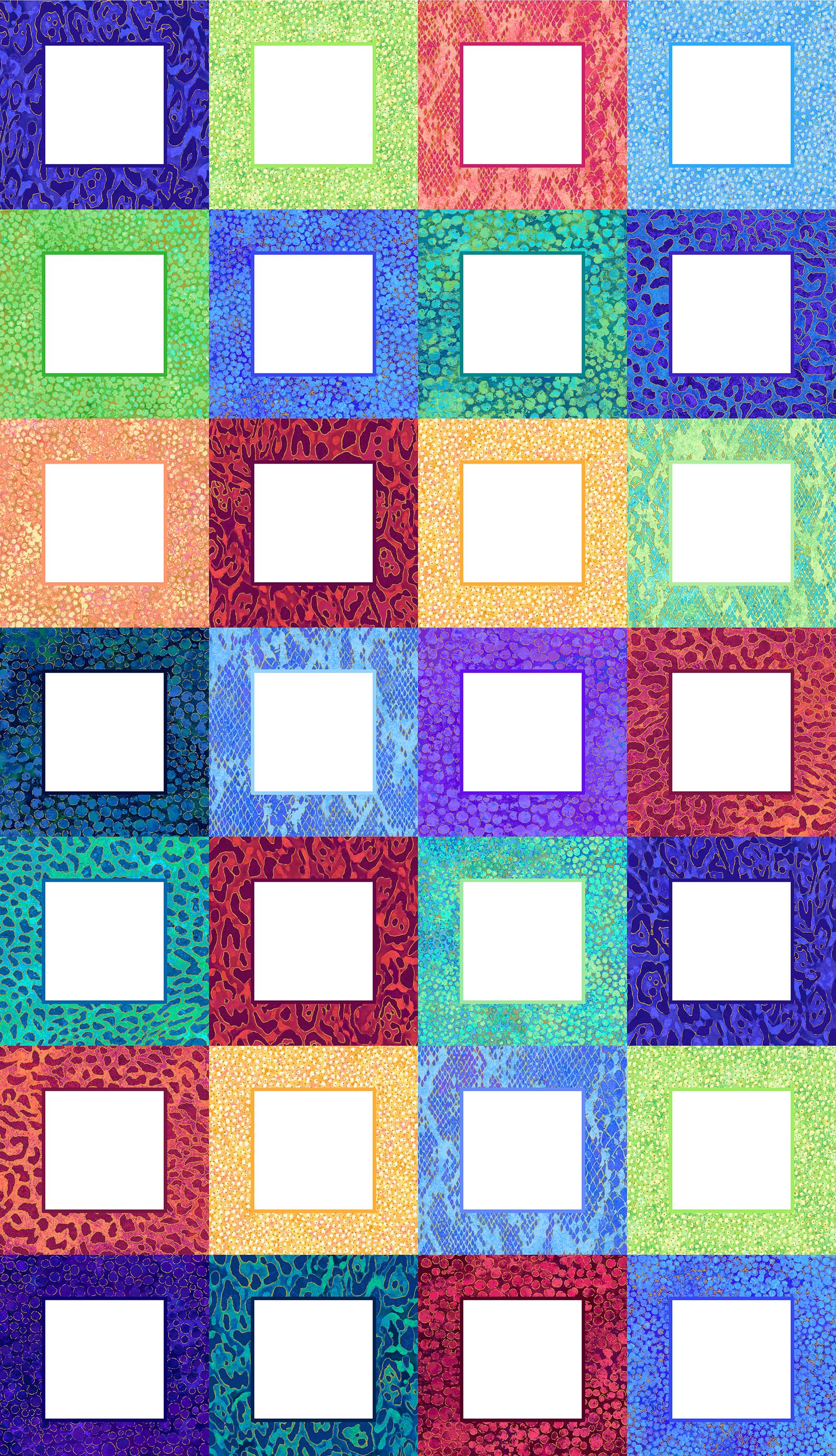 Panel - Shimmer Wild Thing Multi Color Labels
