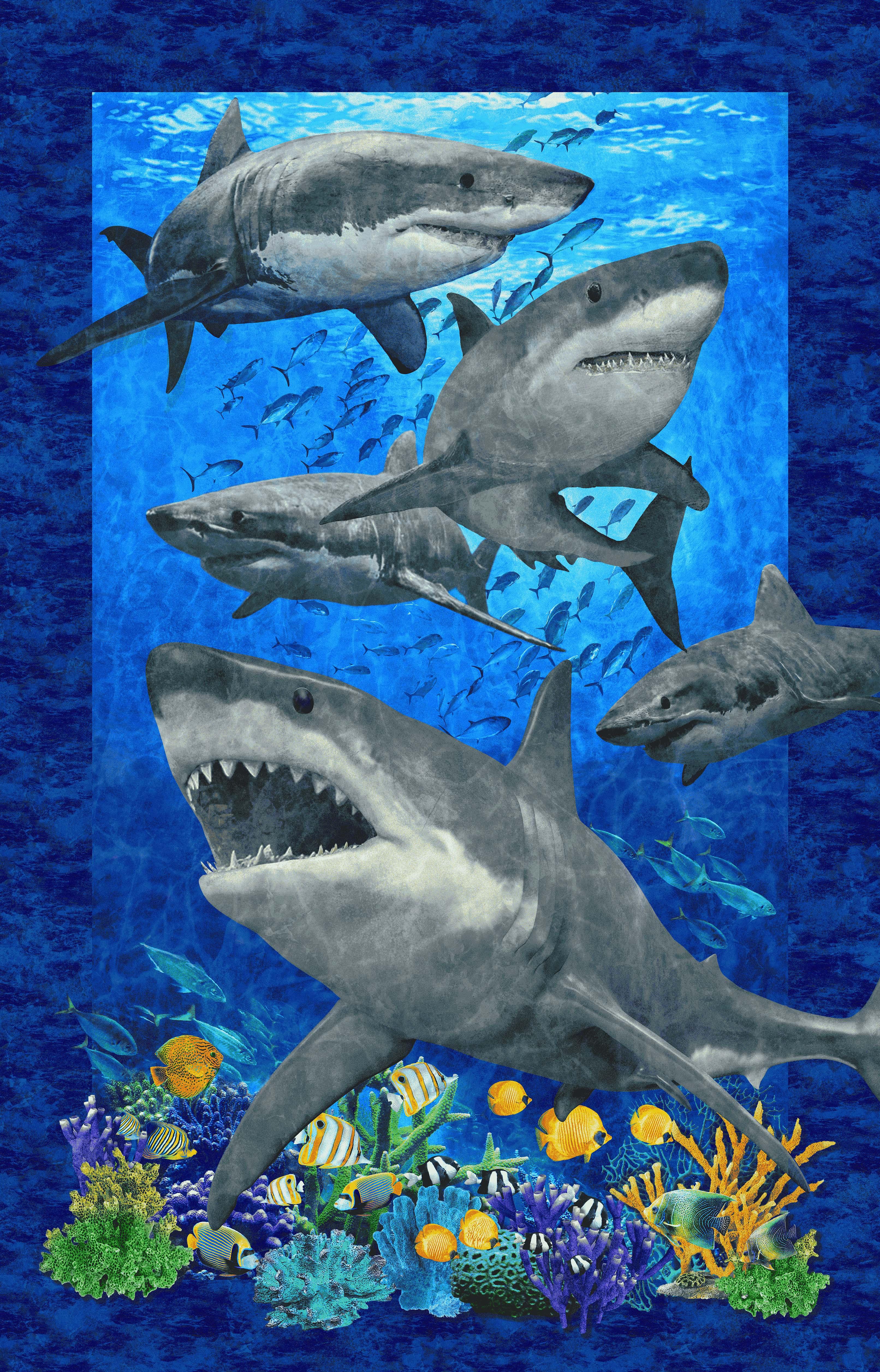 SHARK ATTACK DARK BLUE