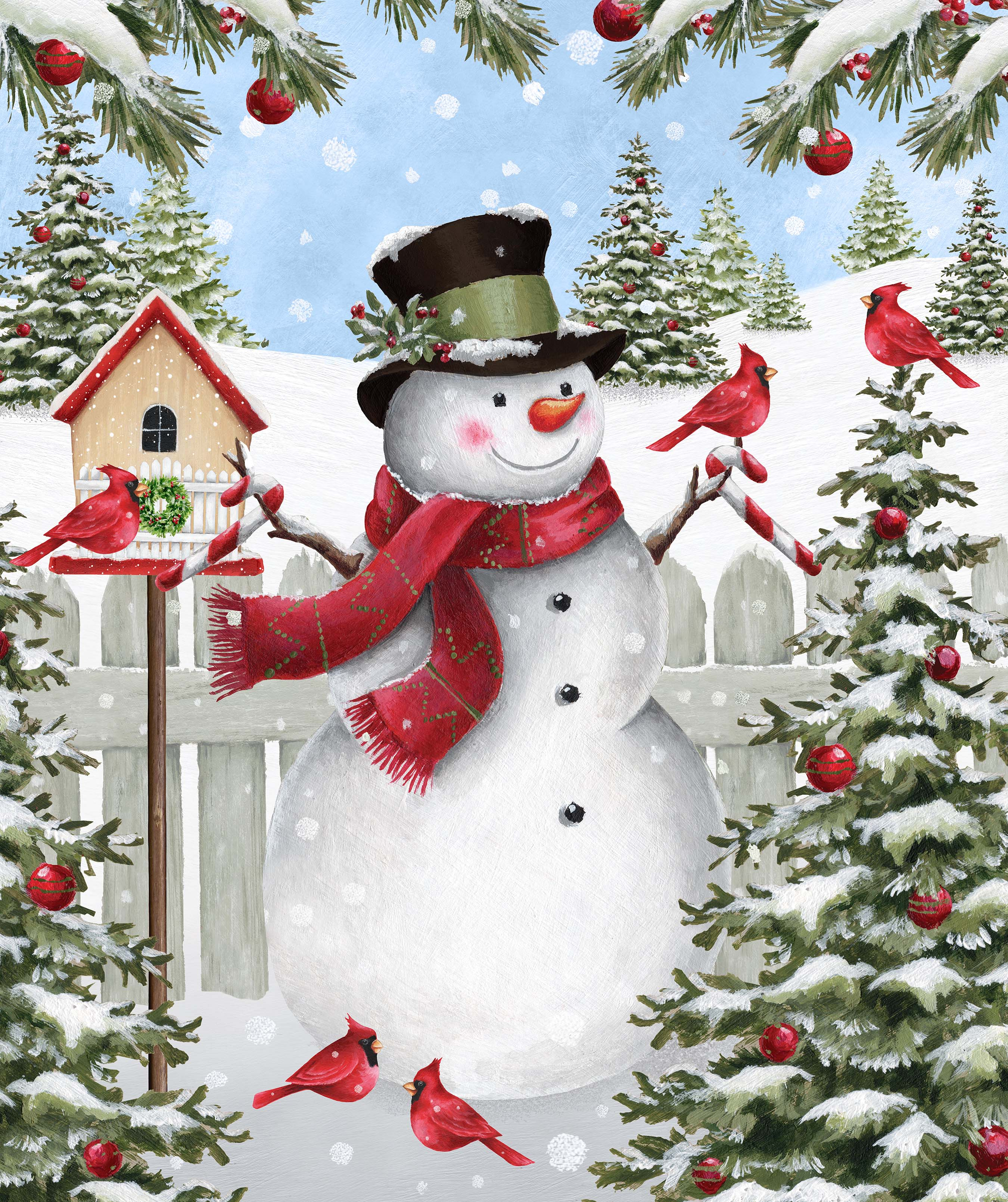 Winter Welcome Snowman Panel<br/>Northcott 24090-10