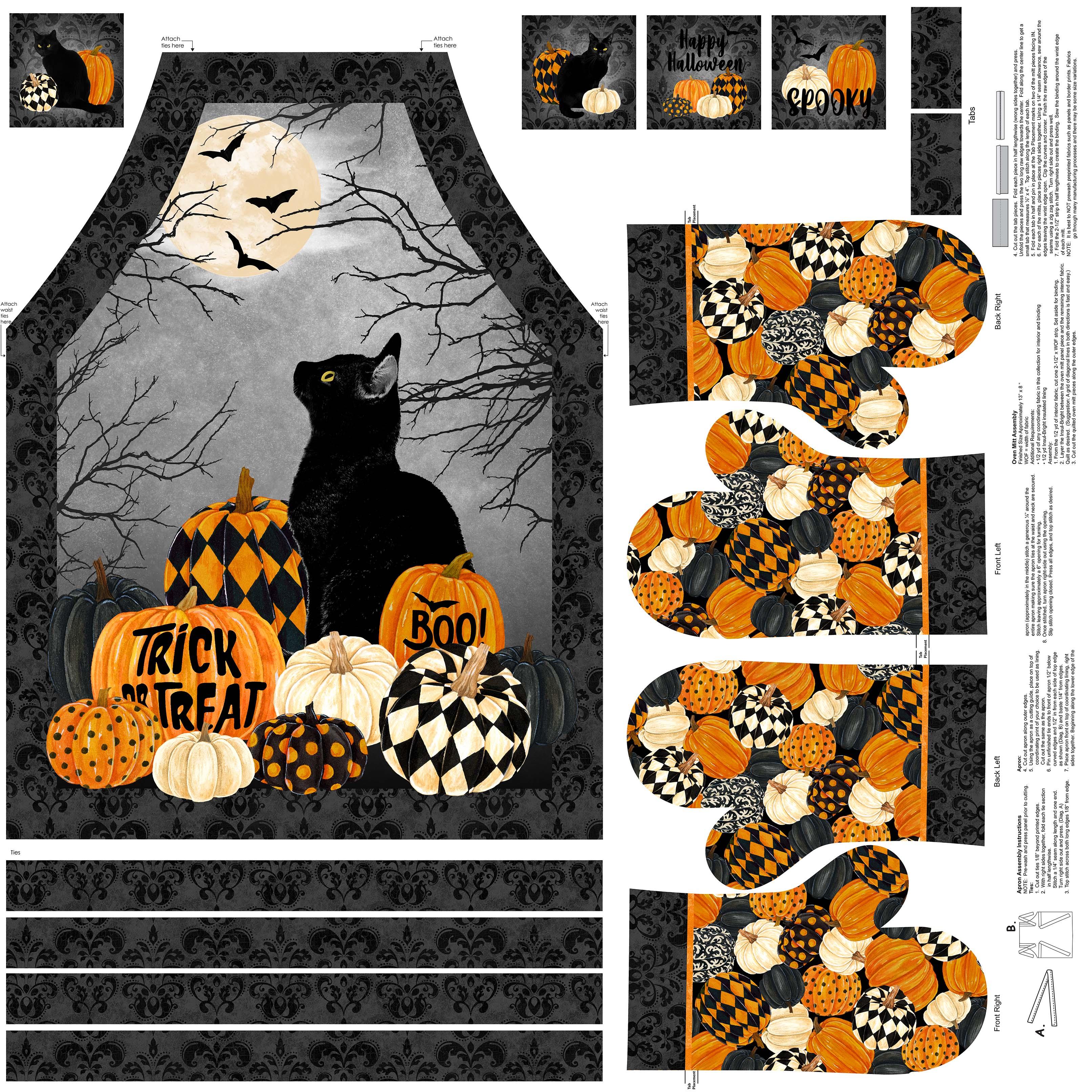BLACK CAT CAPERS BLACK MULTI- DP24126-99