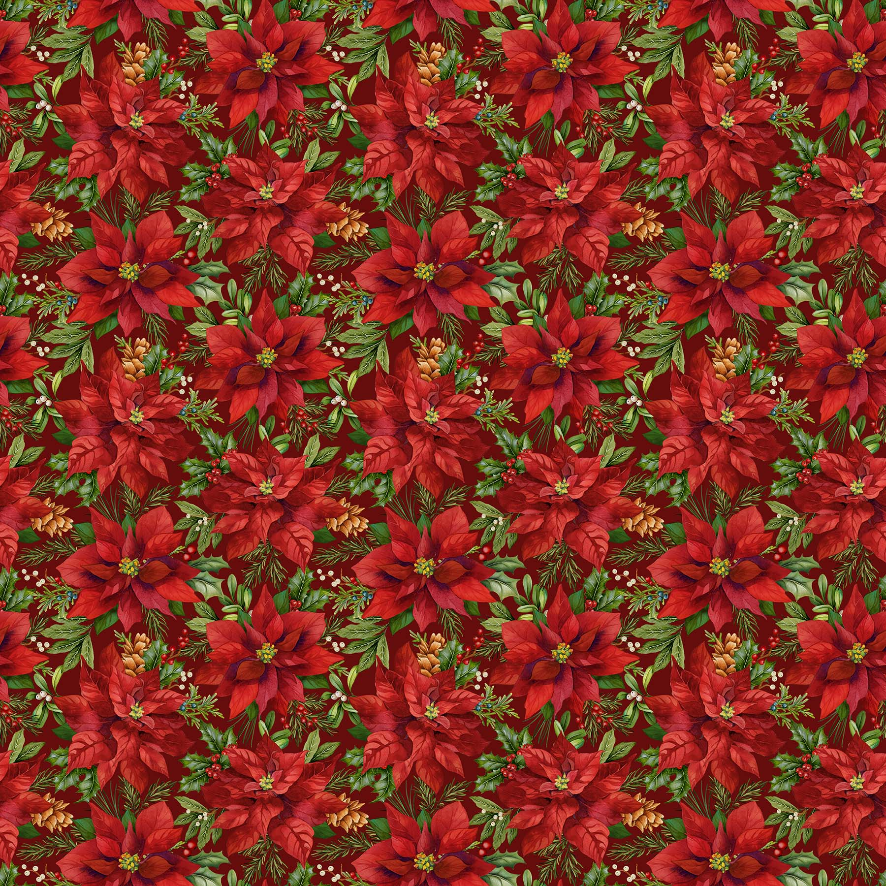Old Time Christmas Packed Poinsettia DP24135 24