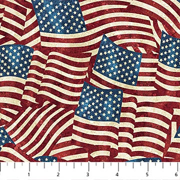Stonehenge Stars & Stripes Flannel - F20158-49