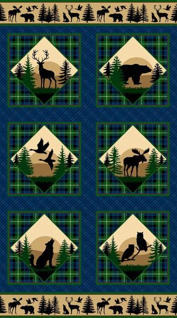 Northwoods Flannel Panel