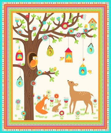 A Little Birdie Told Me - Single Colorway panel