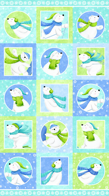 Snow Bears Flannel Panel #39