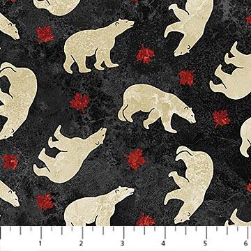 Northcott Oh Canada Flannel - Polar Bears F22037-99