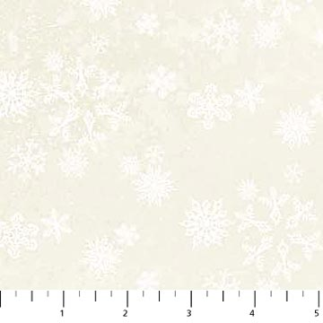 Enchanted Forest Cream Snowflake Flannel  F22305-11