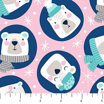 FROST BITE PINK Bears Flannel