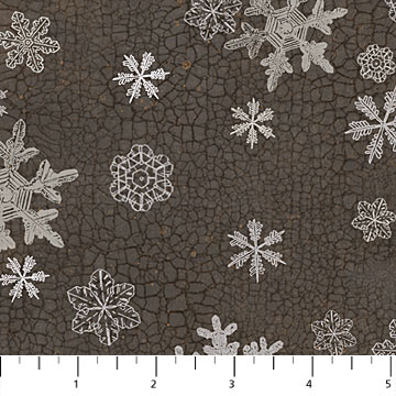 North Ridge Flannel - Snowflakes<br>F22827-96 - Charcoal
