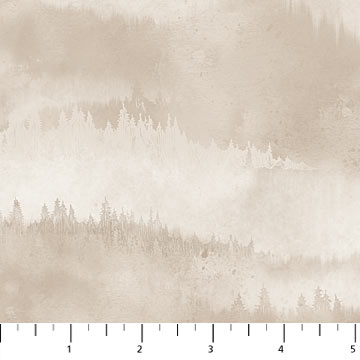 Flannel Misty Mountain in Taupe by Northcott