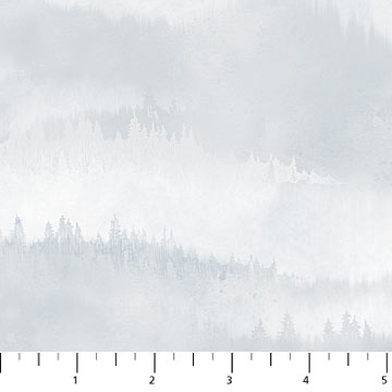 Flannel Misty Mountain in Light Indigo by Northcott