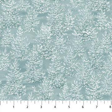 Frosted Woodland Dk Blue Trees F23631-44