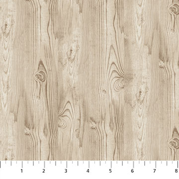 Fabric-Northcott Frosted Woodland Flannel Wood