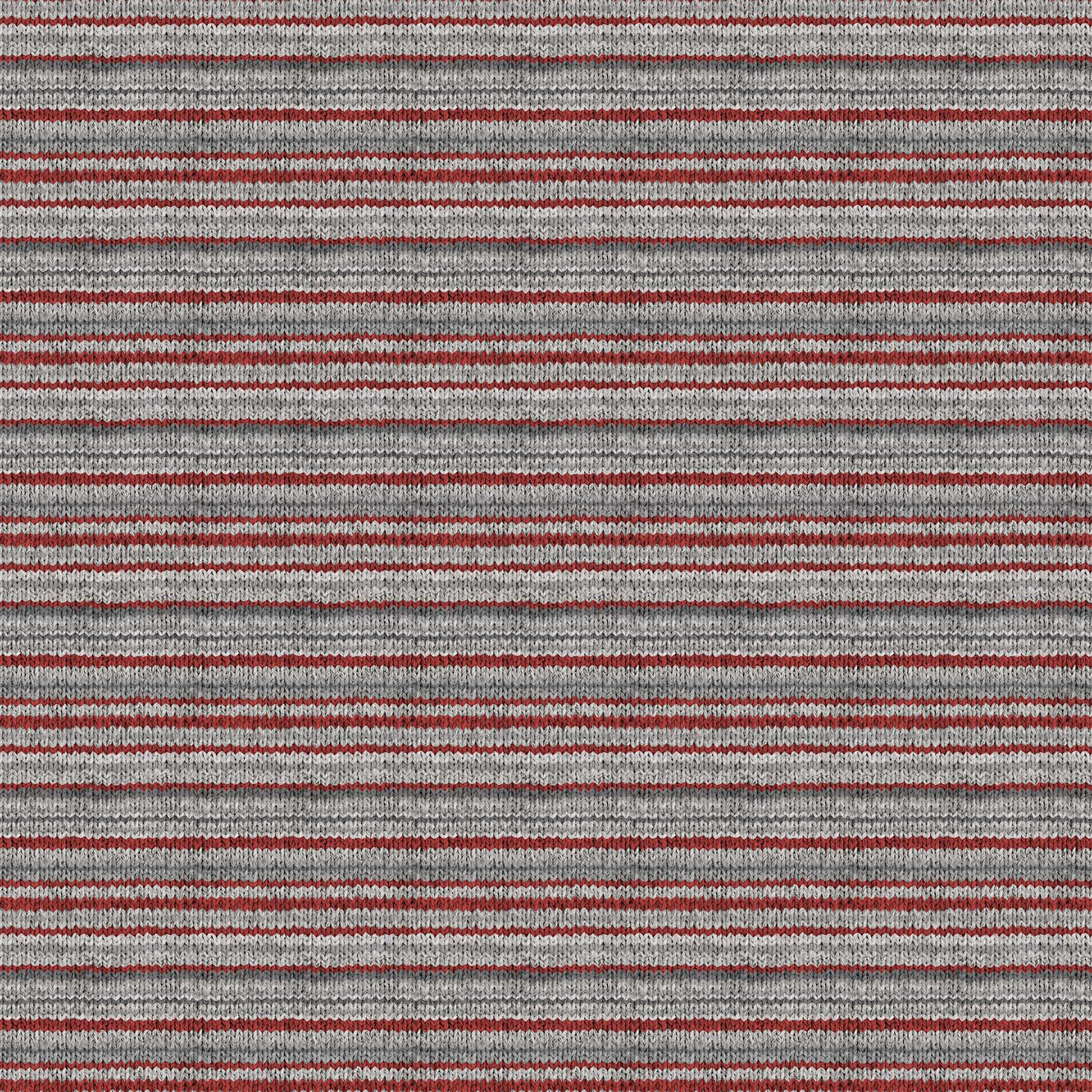 My Canada - Gray Red Knit Stripe Flannel
