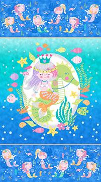 Northcott Mermaid Wishes Panel