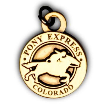 Pony Express Pin & Charms - Colorado