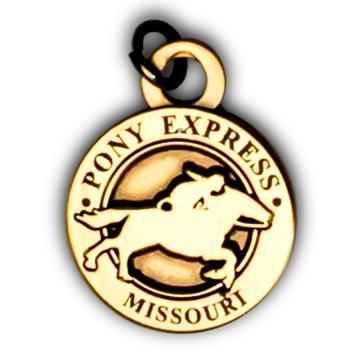Pony Express Pin & Charms - Missouri