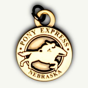 Pony Express Pin & Charms - Nebraska