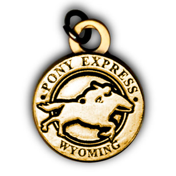 Pony Express Pin & Charms -Wyoming