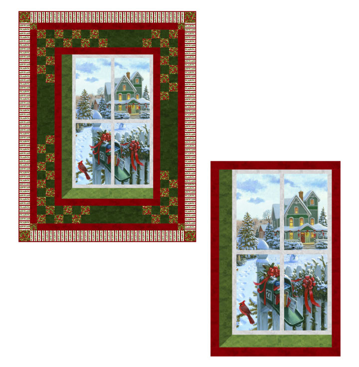 Christmas Window Quilt and Wall Hanging pattern -- PTN2496