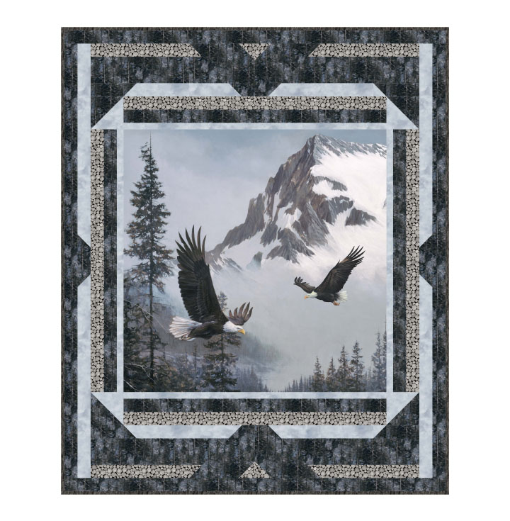 Eagles In Flight Quilt Kit 58 x 70 PTN2521-10