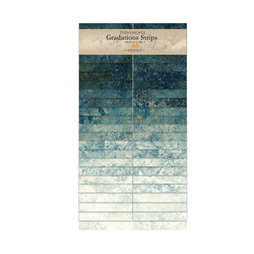 Northcott-Stonehenge-Gradations Strips  SStone40-49 Blue Planet