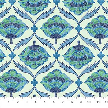 Glasshouse - Embroider Bloom Blue by Emily Taylor for FIGO