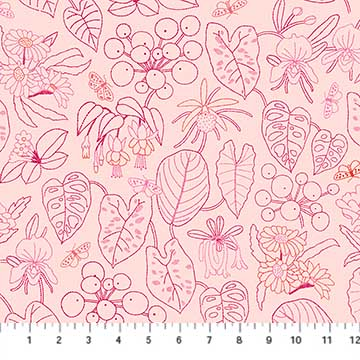 Glasshouse Embroidery by Emily Taylor for FIGO Fabrics