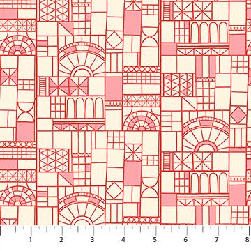 Glasshouse Red Windows by Emily Taylor for FIGO Fabrics