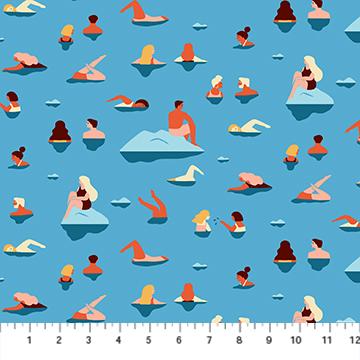 Simple Pleasure Swimmers blue multi