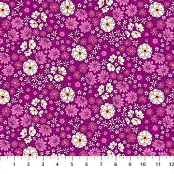PRIMAVERA Scattered Flora MAGENTA 90317-80