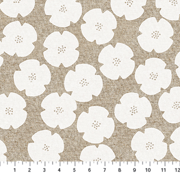 CL90304 10 White Flowers LINEN Harmony FIGO