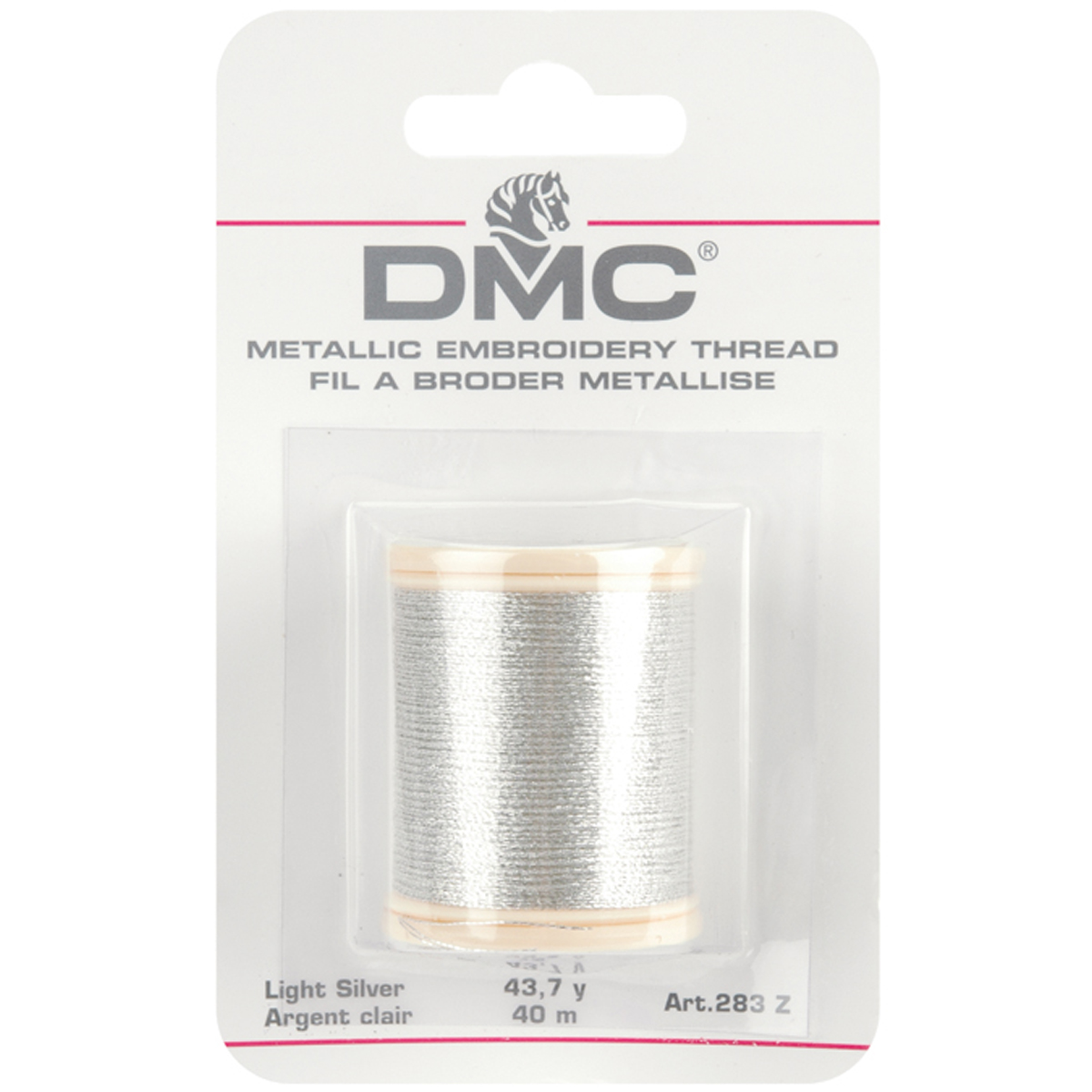 DMC Metallic Embroidery Thread 43.7yd-Light Silver
