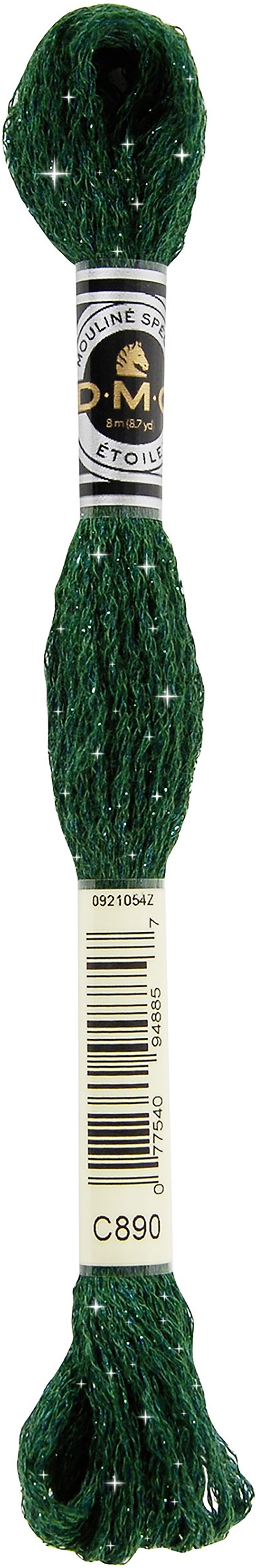DMC 6-Strand Etoile Embroidery Floss 8.7yd-Ultra Dark Pistachio Green