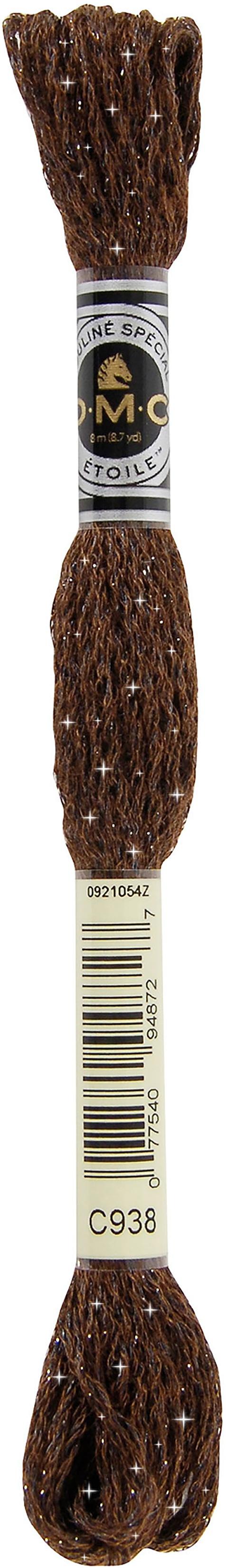 DMC 6-Strand Etoile Embroidery Floss 8.7yd-Ultra Dark Coffee Brown