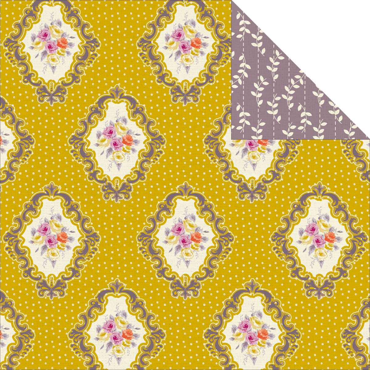 Flora Delight Double-Sided Paper 12X12-Vintage